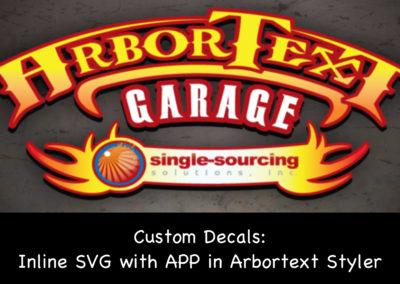 Custom Decals: Inline SVG with APP in Arbortext Styler