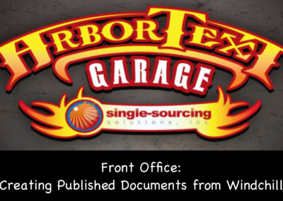 Front Office: Creating Published Documents from Windchill